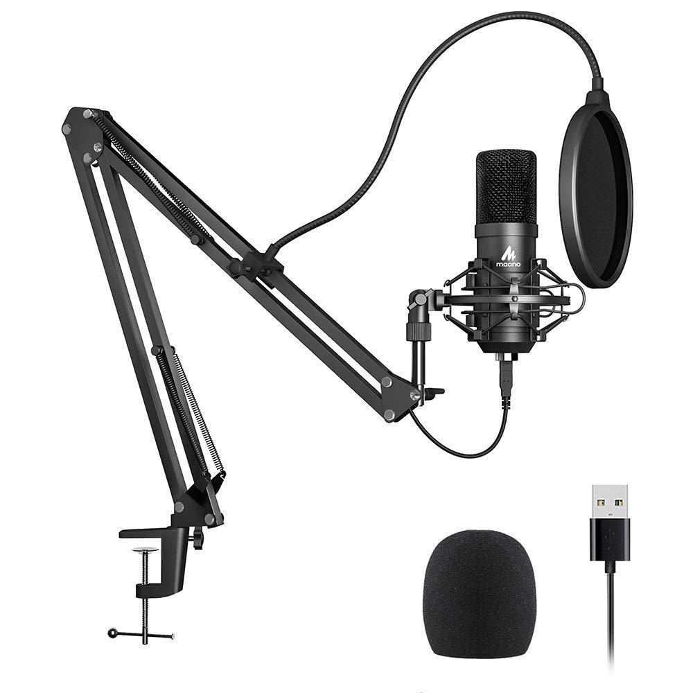 Mikrofon Maono Zestaw mikrofonowy: statyw, pop, filtr, kosz MKIT-USB 1