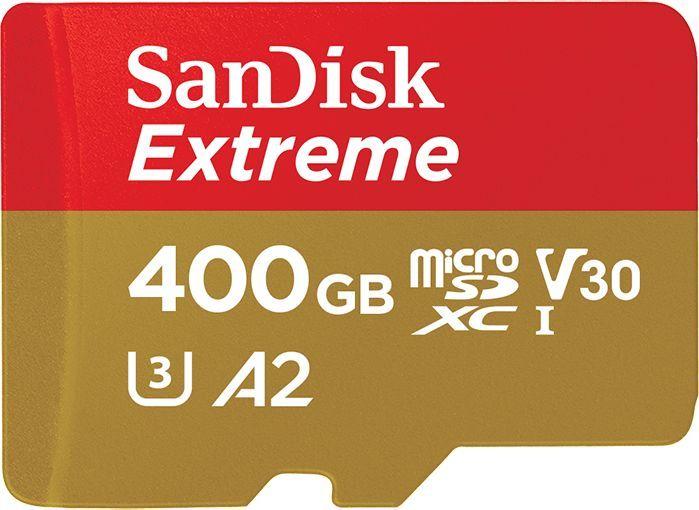 Karta SanDisk Extreme MicroSDXC 400 GB Class 10 UHS-I/U3 A2 V30 (SDSQXA1-400G-GN6MA) 1