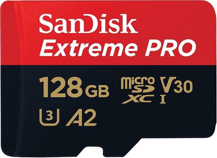 Karta SanDisk Extreme Pro MicroSDXC 128 GB Class 10 UHS-I/U3 A2 V30 (SDSQXCY-128G-GN6MA) 1