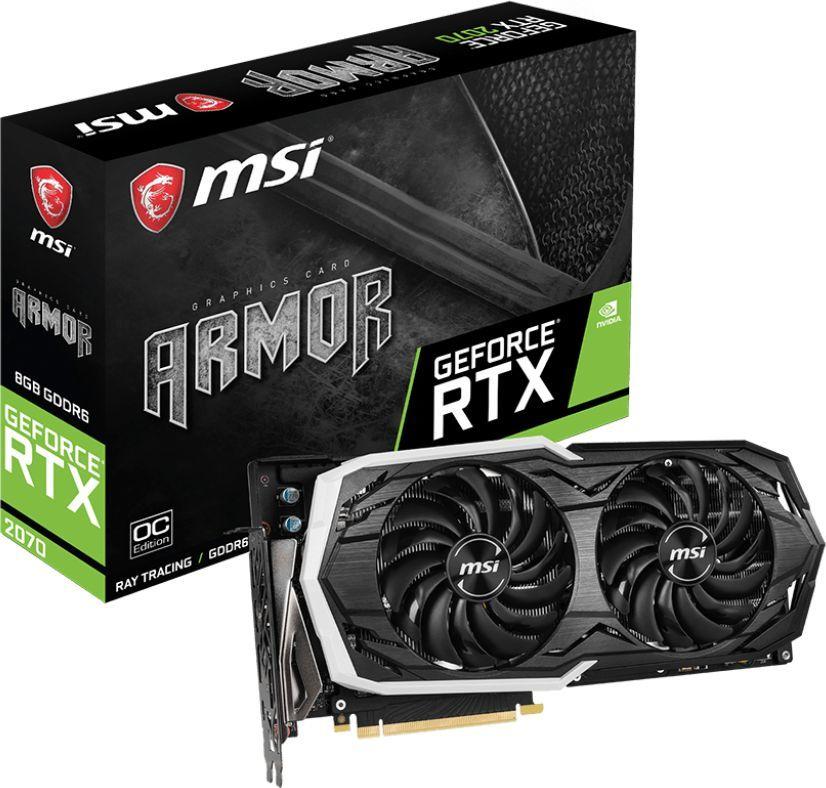 Karta graficzna MSI GeForce RTX 2070 Armor OC 8GB GDDR6 (RTX 2070 ARMOR 8G OC) 1