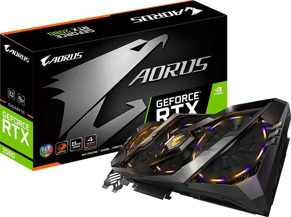 Karta graficzna Gigabyte Aorus GeForce RTX 2080 Xtreme 8GB GDDR6 (GV-N2080AORUS-8GC) 1