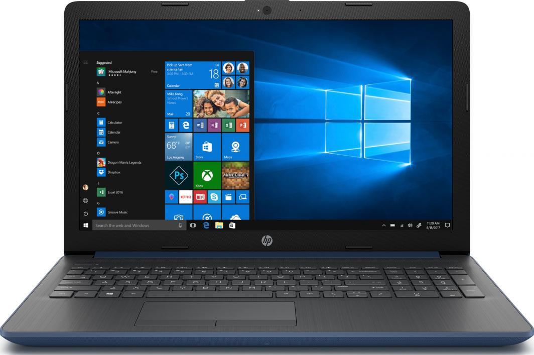 Laptop HP 15-da1006nw (6AT44EA) 4 GB RAM/ 480 GB M.2 PCIe/ 480 GB SSD/ Windows 10 Home PL 1