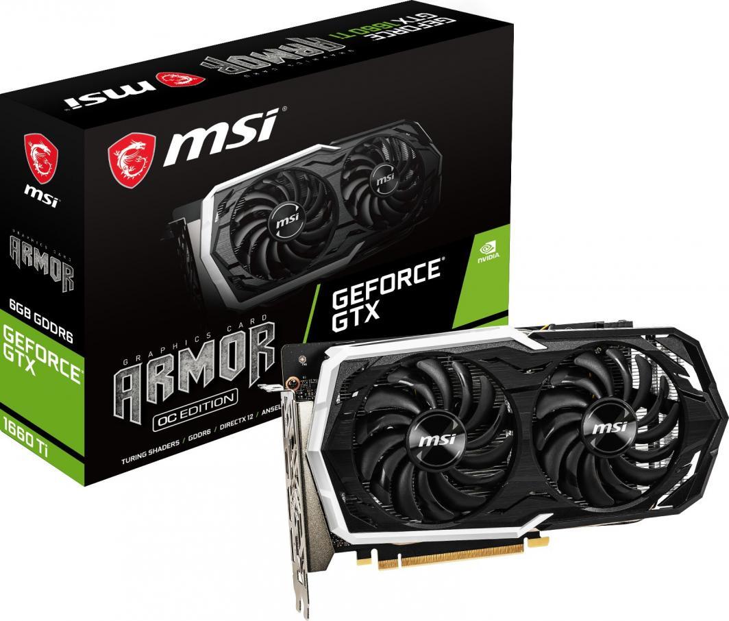 Karta graficzna MSI GeForce GTX 1660Ti Armor OC 6GB GDDR6 (GTX 1660 Ti ARMOR 6G OC) 1
