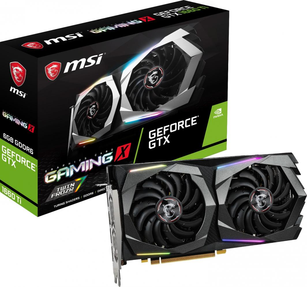 Karta graficzna MSI GeForce GTX 1660Ti Gaming X 6GB GDDR6 (GTX 1660 Ti GAMING X 6G) 1