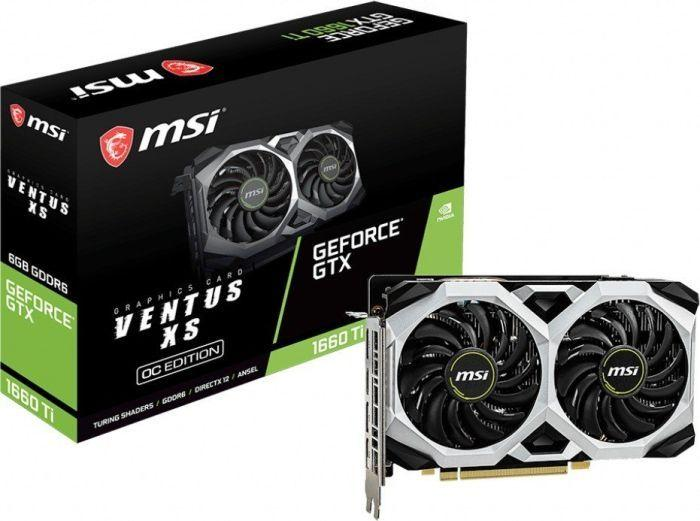 Karta graficzna MSI GeForce GTX 1660Ti Ventus XS OC 6GB GDDR6 (GTX 1660 Ti VENTUS XS 6G OC) 1