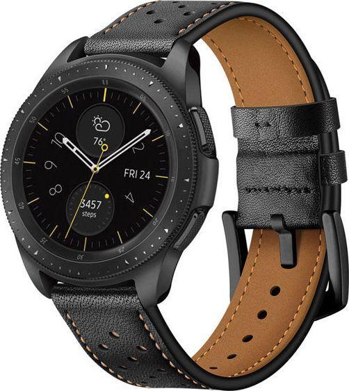 Alogy Skórzany pasek leather band Samsung Gear S3 /Watch 46 mm czarny (4827X1) 1