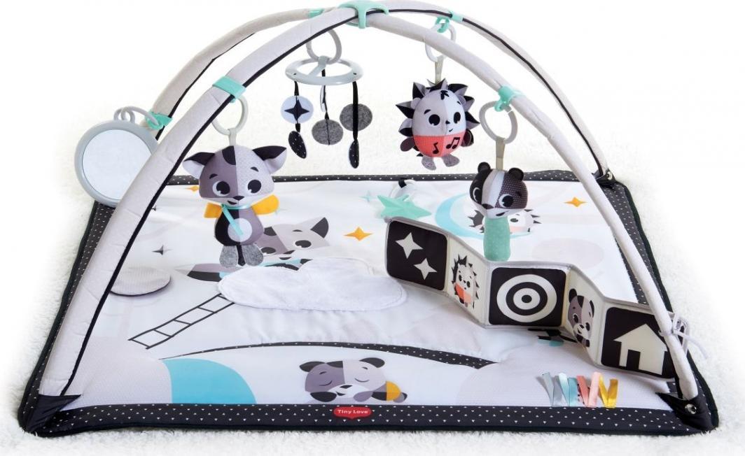 Tiny Love Mata edukacyjna Gimnastyka dla bobasa z pałąkami - Magiczna Kraina - czarno-biała 1