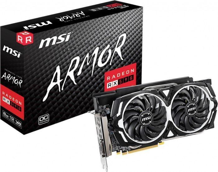 Karta graficzna MSI Radeon RX 590 Armor OC 8GB GDDR5 (RX 590 ARMOR 8G OC) 1