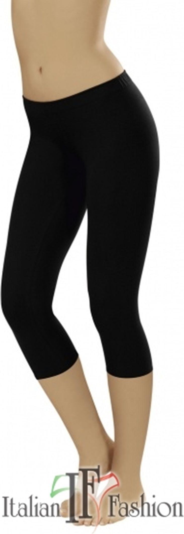 Italian fashion Legginsy 3/4 czarne L 1