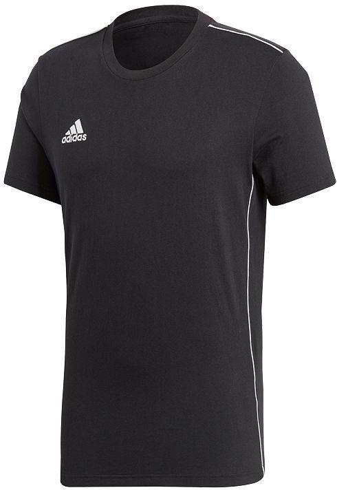 Adidas Koszulka męska Core 18 Tee czarna r. S (CE9063) ID produktu: 4155776