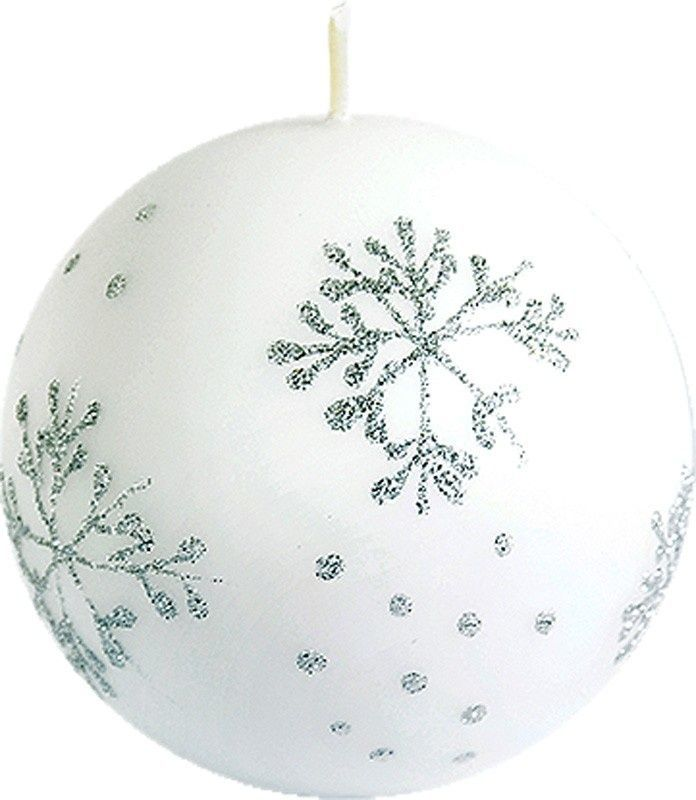 Art-Pol Świeca biała - Płatek Śniegu Kula (97977) 1