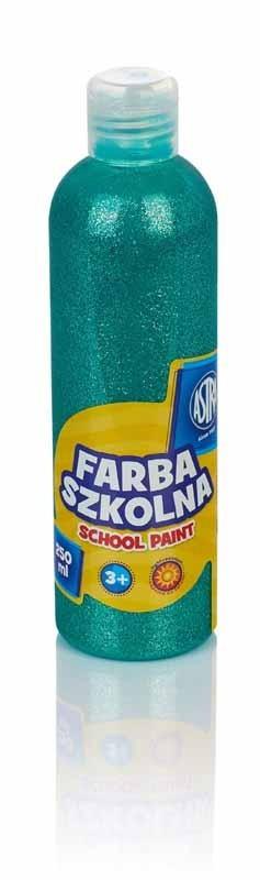 Astra Farba szkolna 250 ml brokatowa zielona (301217041) 1