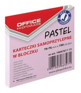 Office Products Notes samoprzylepny 76x76, rózowy pastelowy (14047611-13) 1