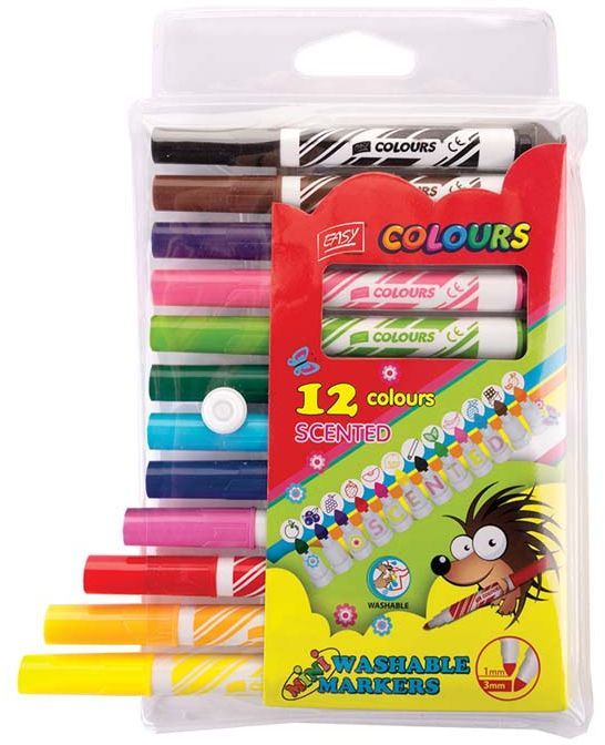 Spokey Pisaki Easy, 12 kolorów, zapachowe (839989) 1