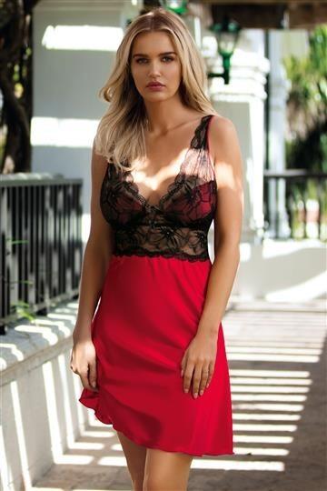 Dkaren Koszulka Sara czarno-czerwona r. L 1