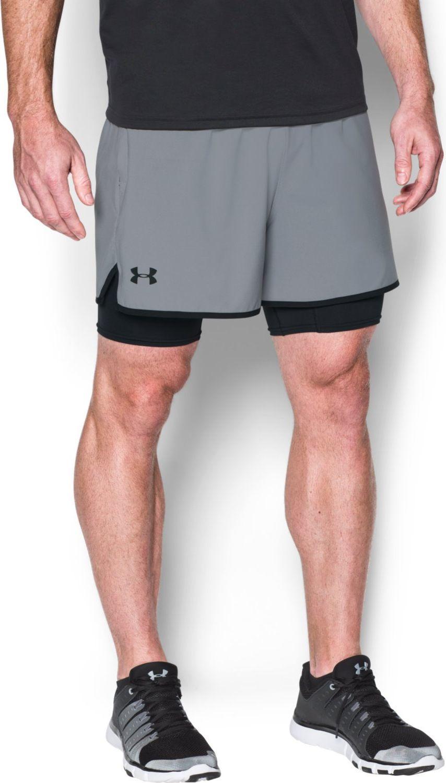100% jakości stabilna jakość nowe tanie Under Armour Szorty męskie UA Qualifier 2 in 1 Shorts szare r. XS  (1289625-035) ID produktu: 4169666