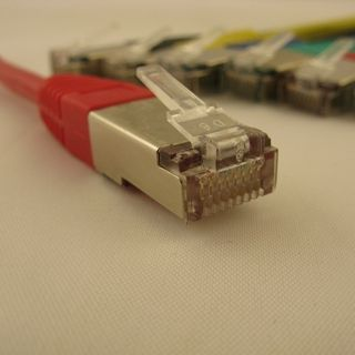 NetRack patchcord RJ45, osłonka zalewana, kat. 5e FTP, 0.5m czerwony (BZPAT05FR) 1