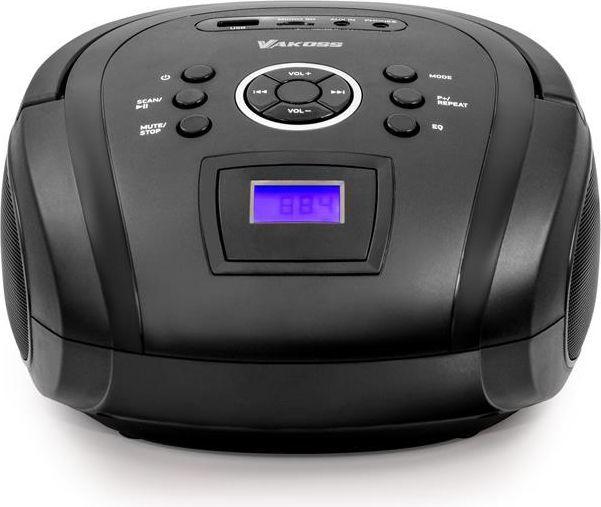 Odtwarzacz MP3 Vakoss Boombox z Bluetooth/ FM/ USB/ Micro SD/ wyświetlacz LCD, czarny (PF-6538K) 1