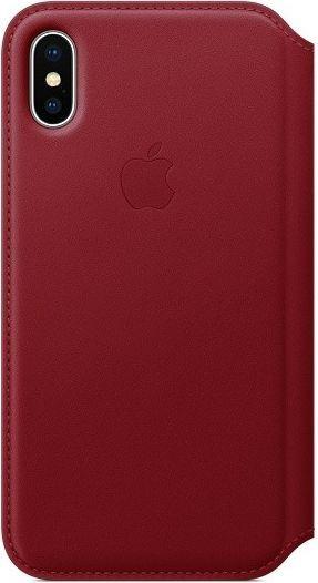 Apple Etui Leather Folio do iPhone X, czerwony (MRQD2ZM/A) 1