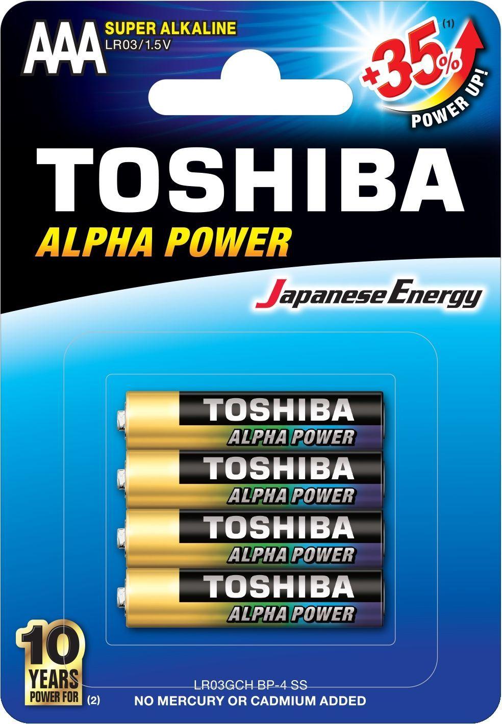 Toshiba Bateria Alpha Power AAA / R03 4szt. 1