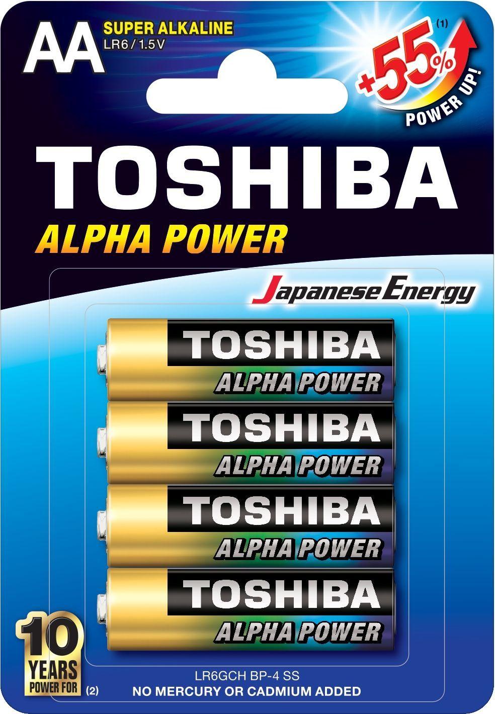 Toshiba Bateria Alpha Power AA / R6 4szt. 1