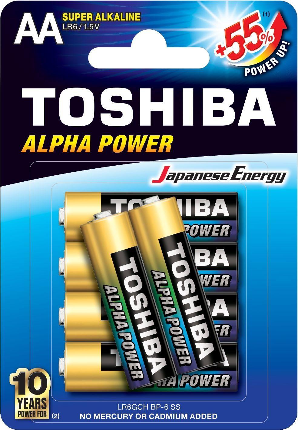 Toshiba Bateria Alpha Power AA / R6 6szt. 1