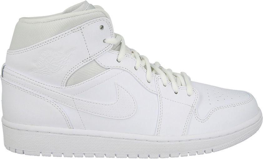 Jordan Buty męskie Air Jordan 1 Mid białe r. 45.5 (554724 110) ID produktu: 4198226