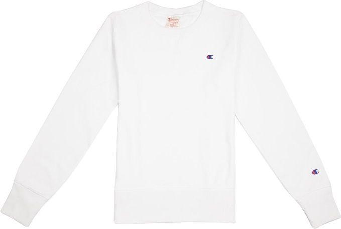 biała bluza z kapturem damska champion
