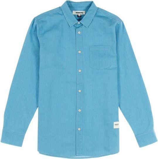 Wemoto Koszula męska Dillinger Light Denim niebieska r. S (322-3) 1