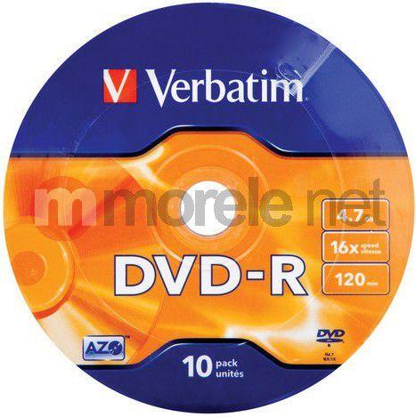 Verbatim DVD-R 4.7 GB 16x 10 sztuk (43729) 1
