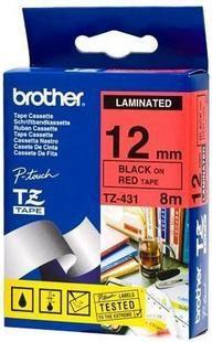 Brother taśma TZE-431 12mm (red on black) 1