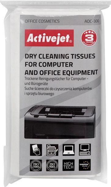 Activejet Chusteczki suche do czyszczenia ekranów i powierzchni plastikowych 24 szt. (AOC-300) 1