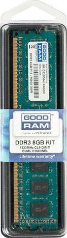 Pamięć GoodRam DDR3, 8 GB, 1333MHz, CL9 (GR1333D364L9/8G) 1