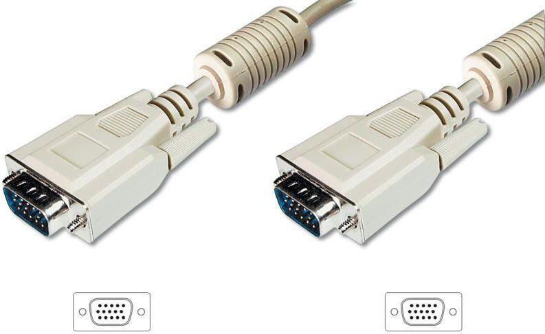 Kabel Assmann D-Sub (VGA) - D-Sub (VGA) 10m szary (AK310103100E) 1