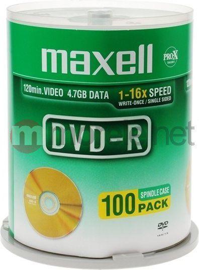 Maxell DVD-R 4.7 GB 16x 100 sztuk (275611.30.TW) 1