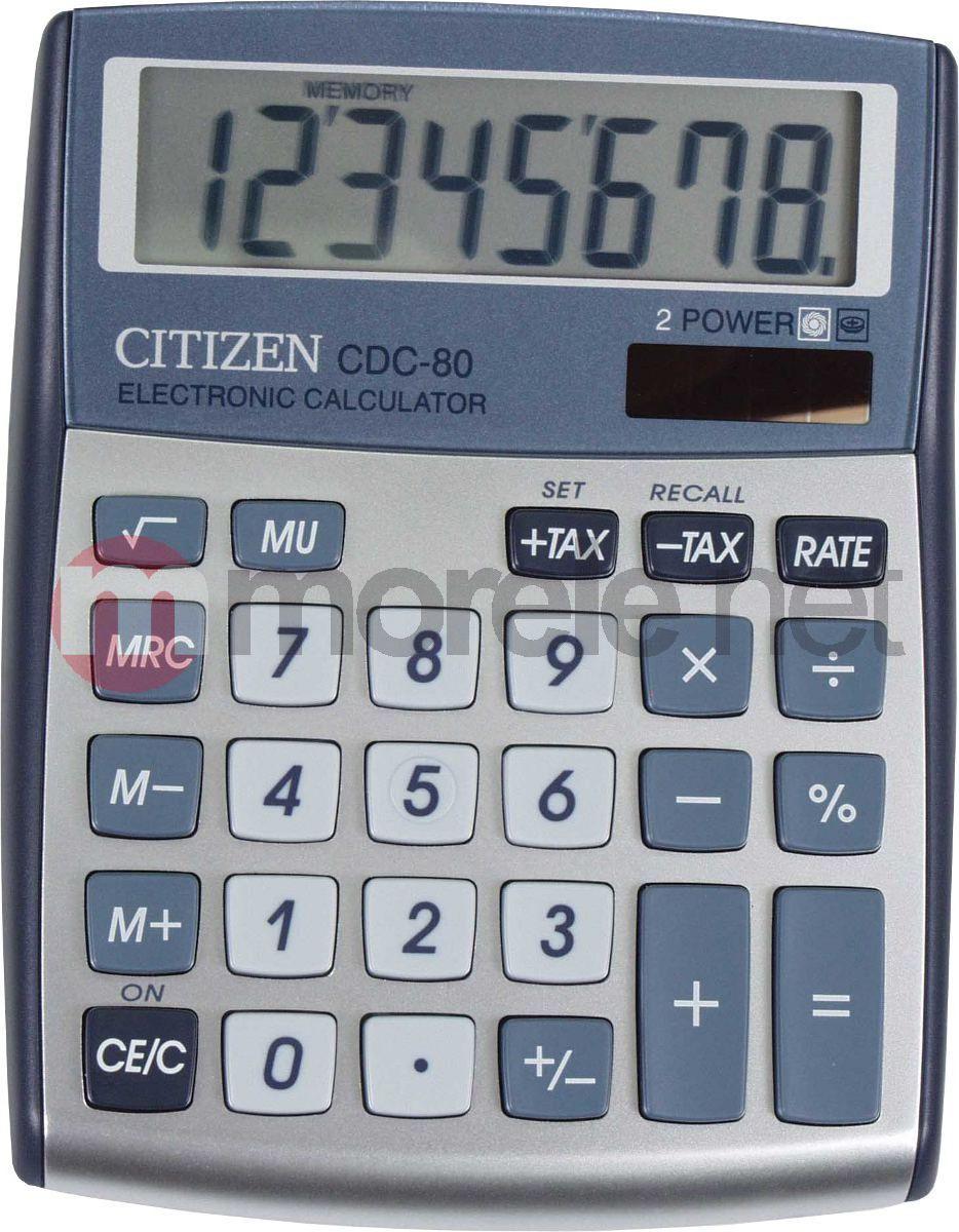 Kalkulator Citizen CDC-80 SILVER 1