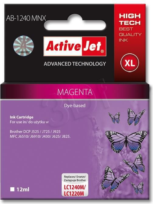 Activejet tusz AB-1240MNX / LC-1240M (magenta) 1
