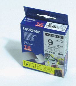 Brother taśma TZE-FX221 (black on white) 1