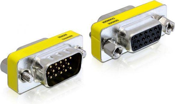 Adapter AV Delock ADAPTER VGA(15M)->VGA(15F) ( 65250 ) 1