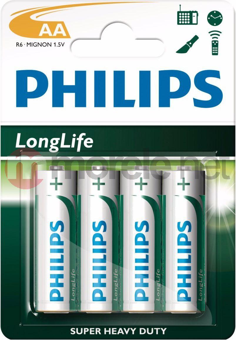 Philips Bateria LongLife AA / R6 4szt. 1