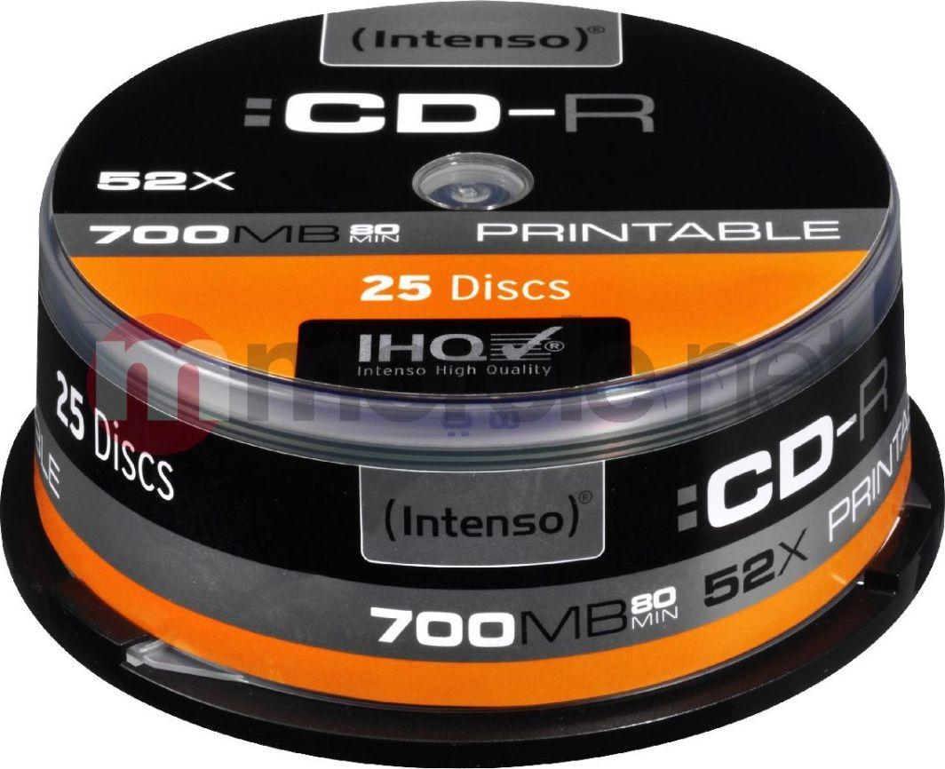 Intenso CD-R 700 MB 52x 25 sztuk (1801124) 1