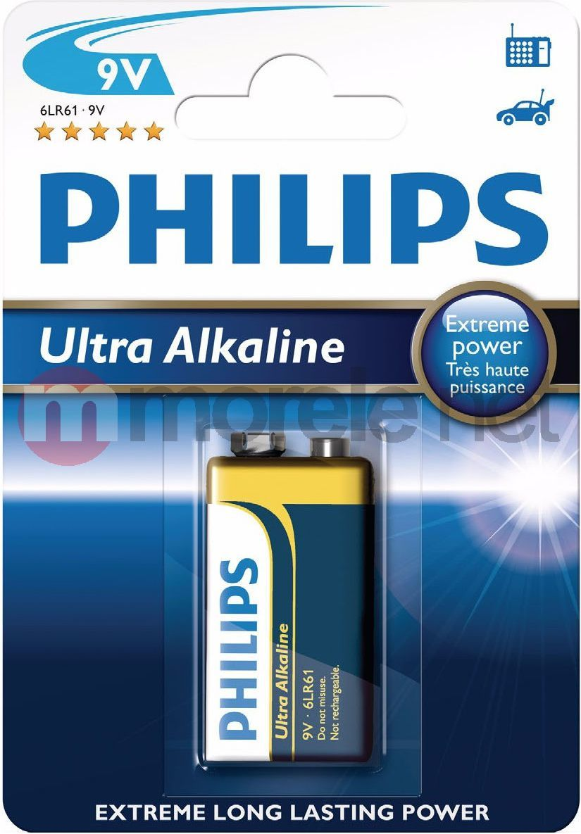 Philips Bateria Ultra 9V Block 1szt. 1