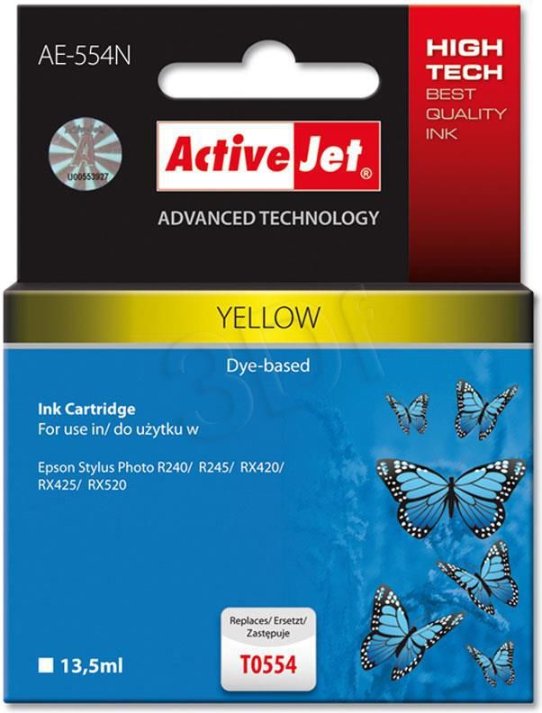 Activejet tusz AE-554N (T0554) Yellow 1