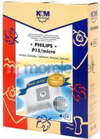 Worek do odkurzacza K&M P15 Micro Philips, Amica 1