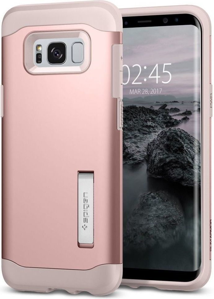 Spigen Etui Slim Armor do Samsung Galaxy S8 Rose Gold 1