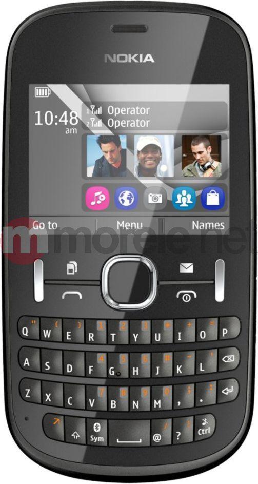 Telefon komórkowy Nokia Asha 200 DualSim Grafitowy 1