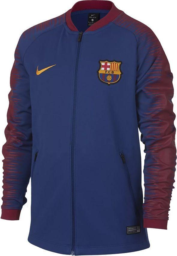 najbardziej popularny różne kolory 100% jakości Nike Bluza piłkarska Y FC Barcelona granatowa r. M (894412 456) ID  produktu: 4533530