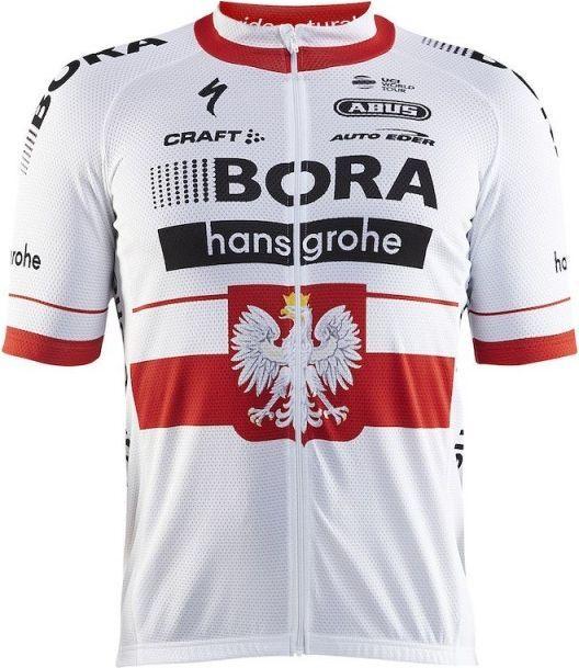Craft Koszulka męska Bora hansgrohe Replica SS Jersey biało czerwona r. M (1906104 2430) ID produktu: 4546195