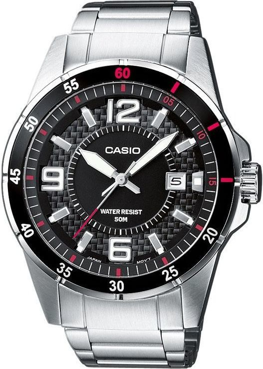 Zegarek Casio Zegarek Davor stal szlachetna MTP-1291D -1A1VEF 1