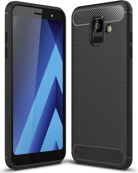 Tech-Protect TPUCARBON do Samsung Galaxy A6+ 2018 czarne 1